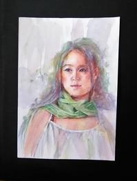 松林淳さんの模写 - まり子の水彩画
