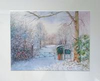 冬景色パート3 - まり子の水彩画