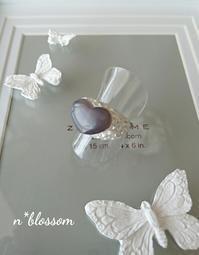 レッスンレポート ハートの半貴石リング - 宝塚のグル―デコ教室 N*blossom