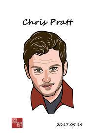 クリスプラットを描きました。(C038) - 楽しいね。似顔絵は… ヒロアキの作品館