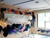 石巻リボンプロジェクトの壁画制作 - 瀬島匠 アトリエクラージュ