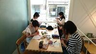minamiwaニットカフェ武蔵小山ご報告♪次回は9月9日(土)です - 空色テーブル  編み物レッスン&編み物カフェ