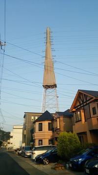 電柱の工事 - 自分遺産