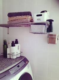 洗濯機まわり☆ストック用のバケツ - ケセラセラ~家とGREEN。