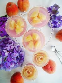 桃のムースゼリー♪ - This is delicious !!