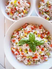 暑い!暑い!こんな日はさっぱりレモン風味のお米のサラダ♪ - La Tavola Siciliana  ~美味しい&幸せなシチリアの食卓~