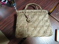 籠編み教室 7月 - 古布や麻の葉