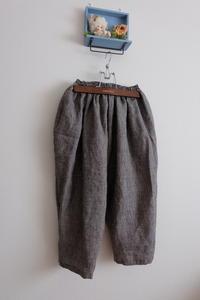 短丈のリネンのパンツとお誕生日の約束 - 夢子さんのミシン