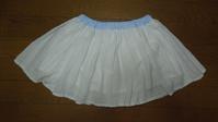 321.透ける白ドットのスカート - フリルの子供服