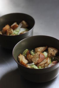 Morning Salad w/chunky croutons - Life w/ Pure & Style