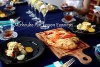 夏野菜のチャバタとお料理メニュー - 自家製天然酵母パン教室Espoir3n(エスポワールサンエヌ)料理教室 お菓子教室 さいたま