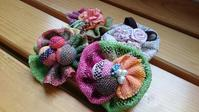 手織りのお花ブローチ。 - さをりのキロク~つながる