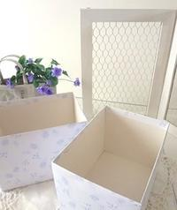 紙箱作り - handmade flower maya