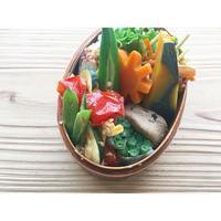 トマト・ズッキーニ・インゲンと卵の炒め物BENTO - Feeling Cuisine.com