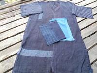 ゴリ麻野良着・・本体はそのままベストに・・付属の布はとてもいい具合 - 藍ちくちく日記