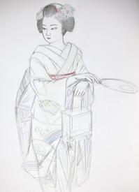 舞妓さん モデル実佳子ちゃん - 黒川雅子のデッサン  BLOG版