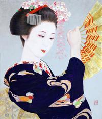 日本画 10号(455×530mm )岩絵の具 箔 紙本 - 黒川雅子のデッサン  BLOG版