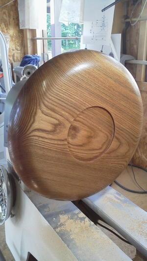 今日のウッドターニング・・・・お盆(ニレ埋れ木)パン皿(タモ・エンジュ) - 木遊人masamiの十勝lifelog