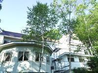 裏の塗装 - 浅間高原・北軽井沢 ペンション・ローエングリンの高原日記