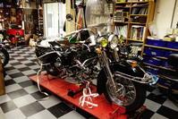 1958陸王RTⅡ フロントフォーク・Fドラムブレーキ - Vintage motorcycle study