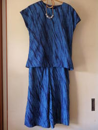 藍染め布のツーピース - 日々つれづれ