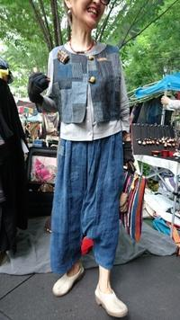 大江戸骨董市 7月 2 - 古布や麻の葉