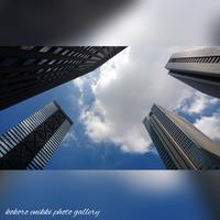 「ビルと空と雲」西新宿 - こころ絵日記