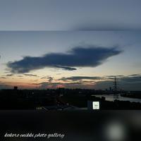 「夕陽と一緒に」 - こころ絵日記