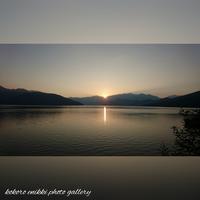 「中禅寺湖の夕陽」 - こころ絵日記