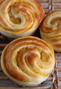 安納芋のくるくるパン - Takacoco Kitchen