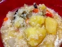 ☆野菜のエキスが美味しいスープ+ブルグル☆ - ガジャのねーさんの  空をみあげて☆ Hazle cucu ☆