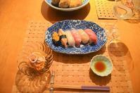 家でお寿司とワイン - まほろば日記