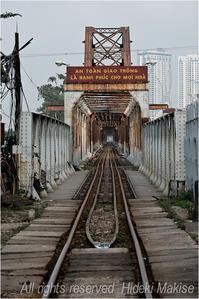 インドシナ周遊の旅(31)ハノイ(8)ベト鉄(6)ロンビエン鉄橋を歩く - My Filter     a les  co les   Photographies