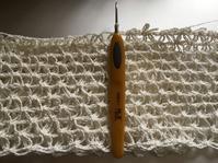 Wネット模様編みショール2017…その2 - いととはり