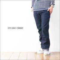 STUDIO ORIBE [スタジオオリベ] RIB PANTS INDIGO DENIM「RP15-IND」 リブパンツ・デニム・インディゴ MEN'S - refalt   ...   kamp temps
