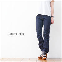 STUDIO ORIBE [スタジオオリベ] RIB PANTS INDIGO DENIM「RP15-IND」 リブパンツ・デニム・インディゴ  LADY'S - refalt   ...   kamp temps