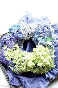 お子様連れ大歓迎です!5歳児作の紫陽花リース - お花に囲まれて