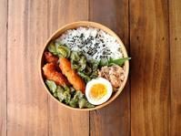 7/14(金)鶏天の甘酢和え弁当 - おひとりさまの食卓plus