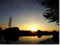 【あ】朝日と鉄塔:あさひとてっとう - ネコニ☆マタタビ