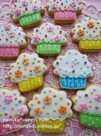 カップケーキアイシングクッキー & お買い物 - nanako*sweets-cafe♪
