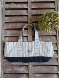 手作り 夏のバッグにアメリカンホックをプラス♪** - &m 手作りのキロク。。