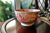 ローズ色の絵付け大ボウル35 - スペイン・バルセロナ・アンティーク gyu's shop