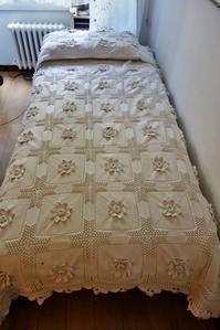 コットン手編みベッドカバー62  sold out! - スペイン・バルセロナ・アンティーク gyu's shop