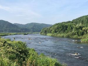 米代川 3日間鮎釣り! - 漁師です・・・
