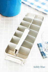 vintage aluminum ice cube tray  ヴィンテージ アイスキューブトレイ - teddy blue