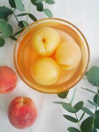 桃のコンポートで2層のゼリームース♪ - This is delicious !!