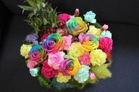 ポップでcrazy!  ご結婚祝いのアレンジ - 北赤羽花屋ソレイユの日々の花
