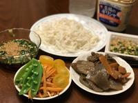 夜ごはんは 残りモノと糖質0g麺。 - よく飲むオバチャン☆本日のメニュー