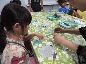 活動報告 2017/07/09 ラチェットごま工作教室@東芝未来科学館 - 東工大ScienceTechnoのブログ