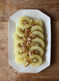 キウイで朝食 - Nasukon Pantry